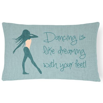 Allyssa Dancing is Like Dreaming Lumbar Pillow Pillow Cover Color: Green