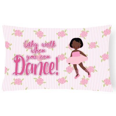 Casandra Ballet African American Short Hair Lumbar Pillow