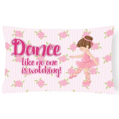 Bernice Ballet Dance Lumbar Pillow Pillow Cover Color: Brunette