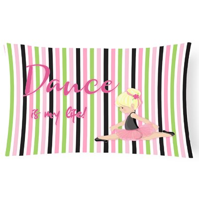 Russel Ballet Dance Is My Life Lumbar Pillow Pillow Cover Color: Blonde