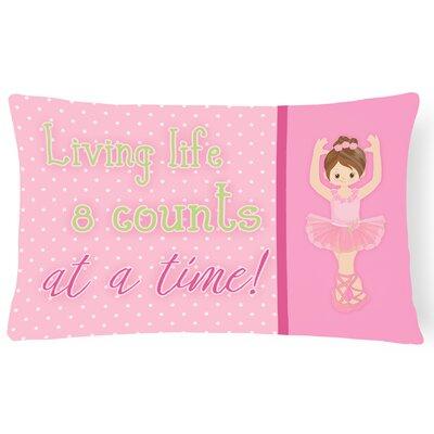 Ruth Ballet in 8 Counts Lumbar Pillow Pillow Cover Color: Brunette
