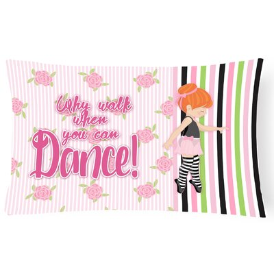 Rylee Ballet Dance Stripes Lumbar Pillow Pillow Cover Color: Brown