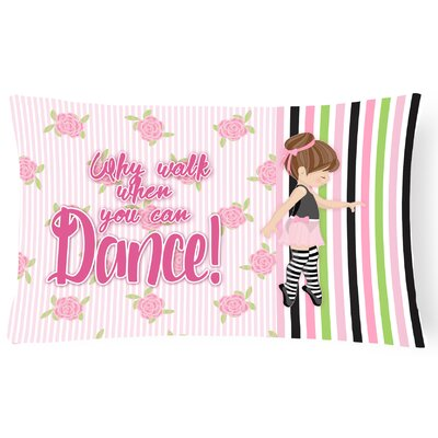 Rylee Ballet Dance Stripes Lumbar Pillow Pillow Cover Color: Brunette