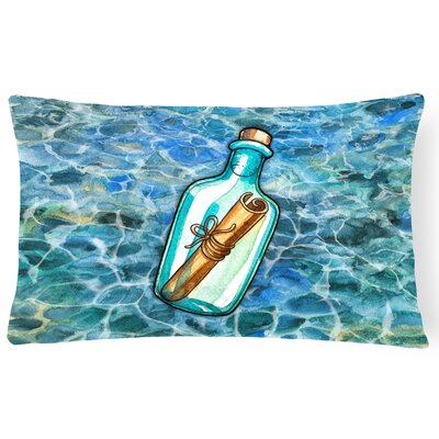 Clayville Message in a Bottle Lumbar Pillow
