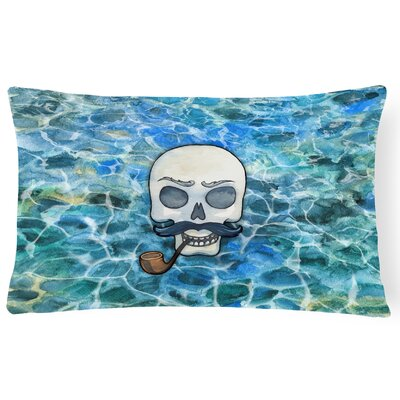 Clendon Skeleton Skull Pirate Lumbar Pillow
