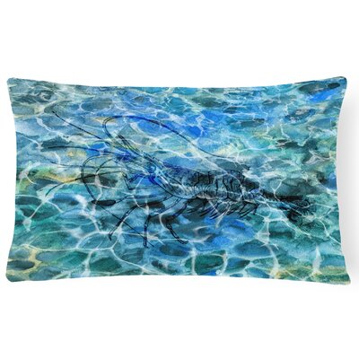 Colindale Shrimp Under water Lumbar Pillow