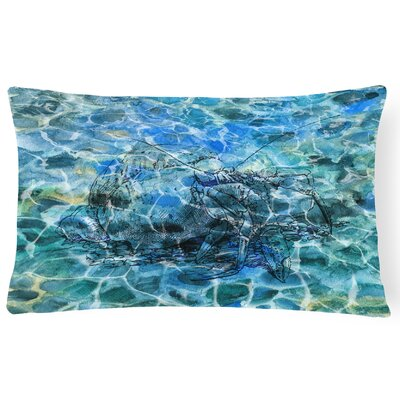 Collina Hermit Crab Under water Lumbar Pillow