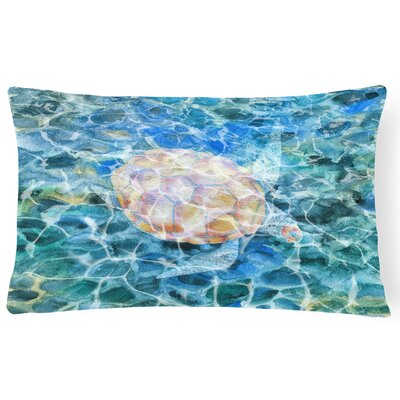 Kobart Sea Turtle Under water Lumbar Pillow