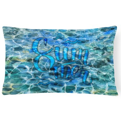 Chris Summer Under Water Lumbar Pillow