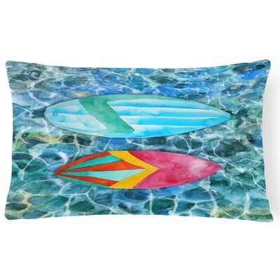 Riton Surf Boards on the Water Lumbar Pillow