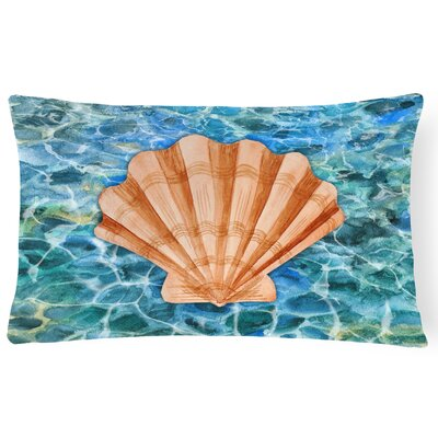 Hurton Scallop Shell and Water Lumbar Pillow