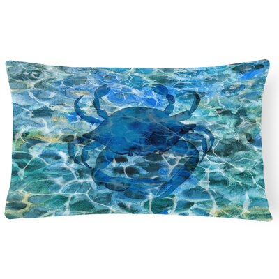 Clanton Crab Under Water Lumbar Pillow