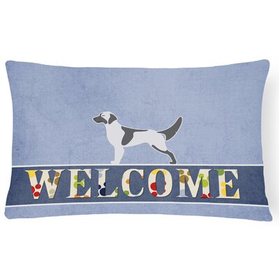 Elvina English Setter Welcome Lumbar Pillow