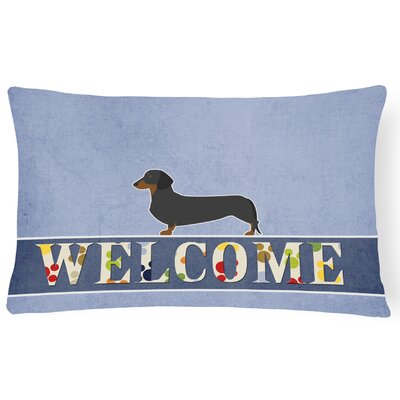 Peebles Dachshund Welcome Lumbar Pillow
