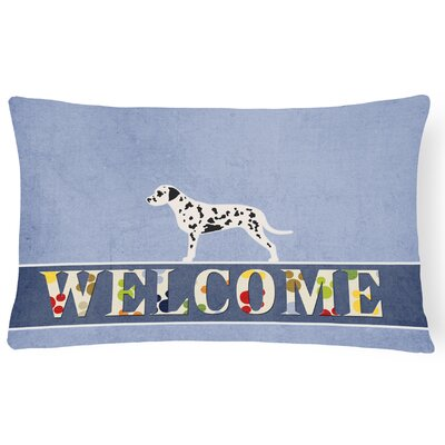 Elwood Dalmatian Welcome Lumbar Pillow