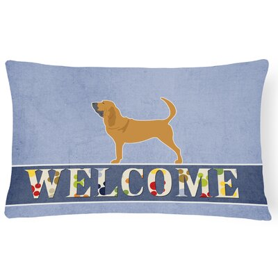 Elwyn Bloodhound Welcome Lumbar Pillow