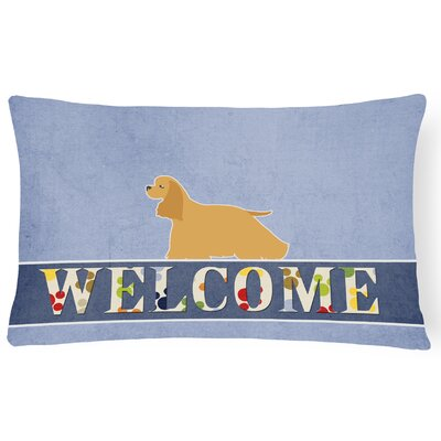 Emerson Cocker Spaniel Welcome Lumbar Pillow