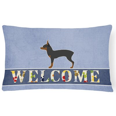 Phyllis Toy Fox Terrier Welcome Lumbar Pillow