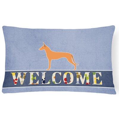 Piedmont Pharaoh Hound Welcome Lumbar Pillow