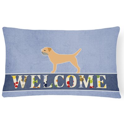 Pipers Border Terrier Welcome Lumbar Pillow