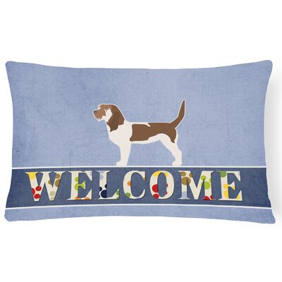 Canfield Grand Basset Griffon Vendeen Welcome Lumbar Pillow