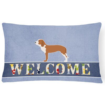 Canton Spanish Hound Welcome Lumbar Pillow