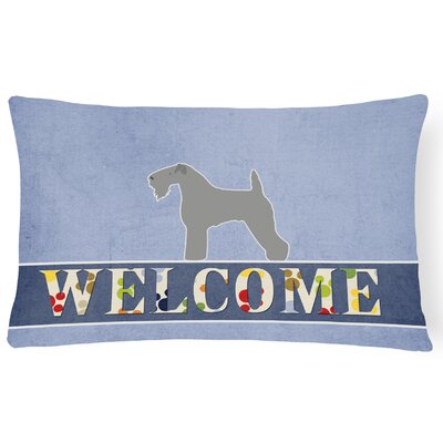 Cardington Kerry Terrier Welcome Lumbar Pillow