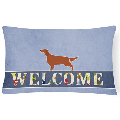 Carey Irish Setter Welcome Lumbar Pillow