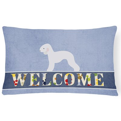 Carlisle Bedlington Terrier Welcome Lumbar Pillow
