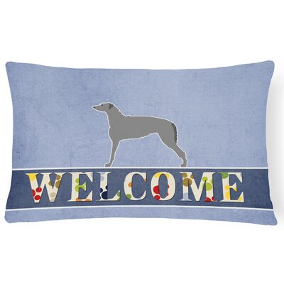 Carnbore Scottish Deerhound Welcome Lumbar Pillow