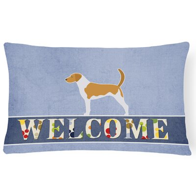 Carrickfergus American Foxhound Welcome Lumbar Pillow