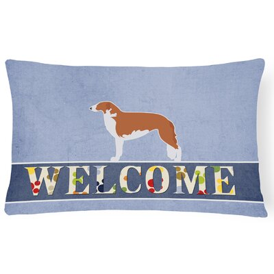 Carrollton Borzoi Russian Greyhound Welcome Lumbar Pillow