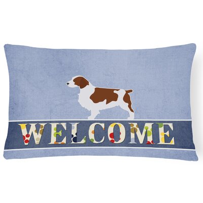 Carver Welsh Springer Spaniel Welcome Lumbar Pillow