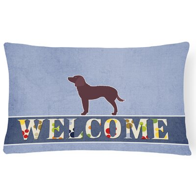 Doris American Water Spaniel Welcome Lumbar Pillow