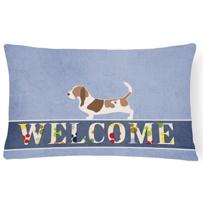Dorothea Basset Hound Welcome Lumbar Pillow