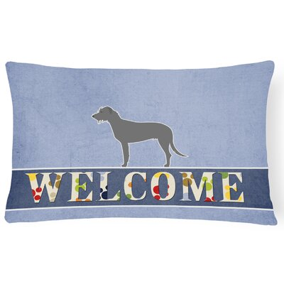 Dorset Irish Wolfhound Welcome Lumbar Pillow