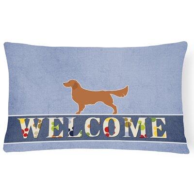 Dorsey Golden Retriever Welcome Lumbar Pillow