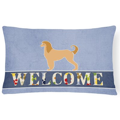 Hammersdale Afghan Hound Welcome Lumbar Pillow