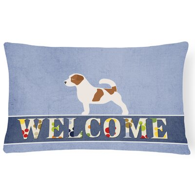 Highland Jack Russell Terrier Welcome Lumbar Pillow