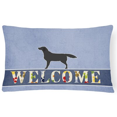 Hillandale Labrador Retriever Welcome Lumbar Pillow