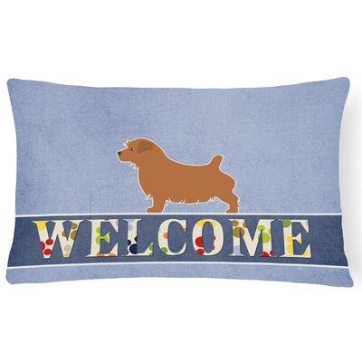 Hillesden Norfolk Terrier Welcome Lumbar Pillow
