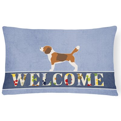 Hilltop Beagle Welcome Lumbar Pillow