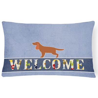 Horton English Cocker Spaniel Welcome Lumbar Pillow
