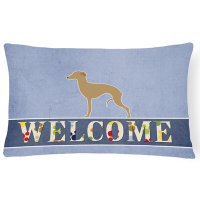 Hulcott Italian Greyhound Welcome Lumbar Pillow
