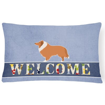 Hardiman Collie Welcome Lumbar Pillow