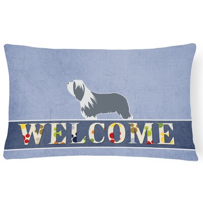 Celis Bearded Collie Welcome Lumbar Pillow