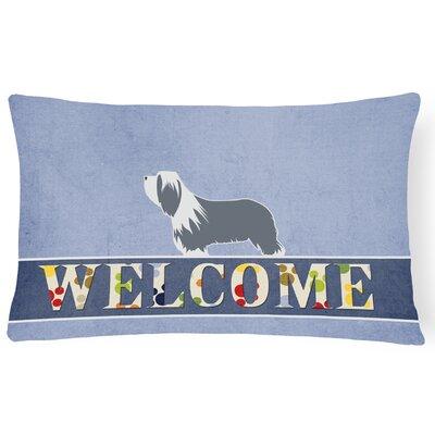 Hardin Bearded Collie Welcome Lumbar Pillow