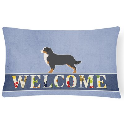 Hargreaves Bernese Mountain Dog Welcome Lumbar Pillow
