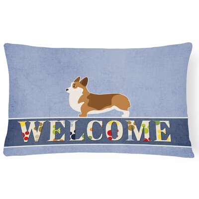 Harkness Corgi Welcome Lumbar Pillow