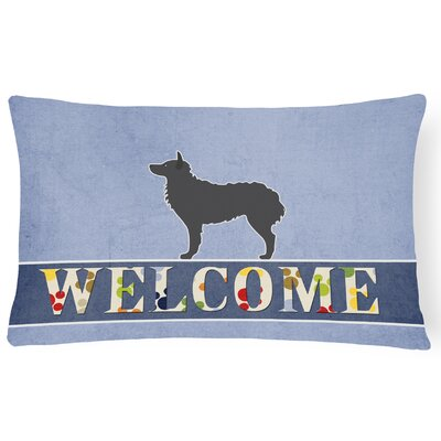 Harold Croatian Sheepdog Welcome Lumbar Pillow